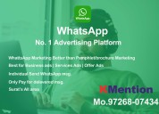 Whatsapp marketing-pamphlet marketing in surat by