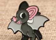 Bat custom enamel pins