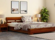 Buy wooden beds online in india at wooden street