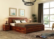 Purchase wooden beds online upto 55% off at wooden