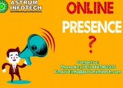 Make online presence with full quantity