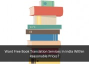 Want free book translation services in india?