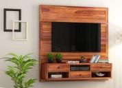 Get wooden tv units from pre navratri sale! enjoy