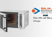 Flat 10% off microwave ovens