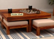 Get wooden coffee table from pre navratri sale! en