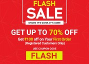 flat rs.100 off on your first order |techhark sale