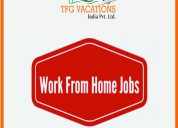 Home based work  online tourism promotions