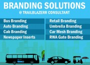 Bus branding, auto branding, newspaper advertising