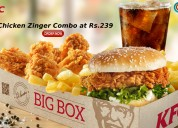 Kfc coupons, deals & offers: 10pcs hot wings at rs