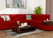 Stylish l shape sofa in gurugram at woodenstreet