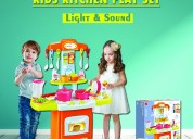 Techhark little chef kids kitchen play set sound