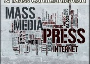 B.a in journalism and mass communication