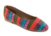 Buy multicolor textured ballerinas at london rag