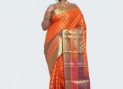 Buy pure katan silk saree online from banarasi nik