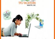 Part time work available in a tours and travels co