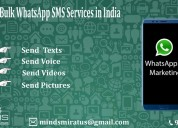 Bulk whatsapp sms services in india