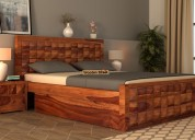 Buy bed with storage in noida from wooden street