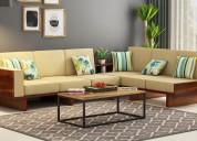 Explore wooden l shape sofa in delhi