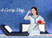 buy 100% pure cotton nighty online