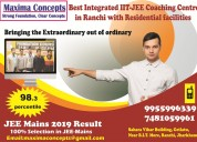 Best residential coaching institute in ranchi jhar