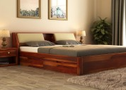 Sale of upto 55% on double cots at wooden street