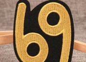 Six nine iron on patches