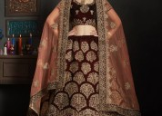 Exclusive collection of velvet lehenga designs