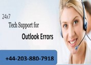 Outlook support phone number +44 203 880 7918