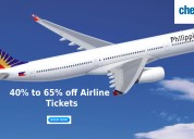 40% to 65% off airline tickets