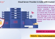 Know about the best cloud server hosting in india