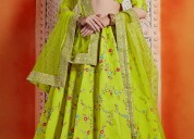 Up to 20% off on floral lehengas visit mirraw