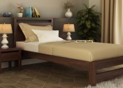Purchase single bed in bangalore at wooden street