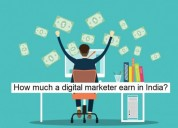 How much a digital marketer earn in india?