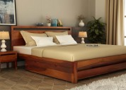Enjoy great discount on queen size cots @ wooden s