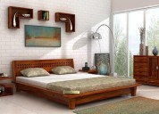Browse bed without storage in jaipur @woodenstreet