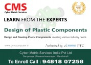 Design of plastic components training in bangalor