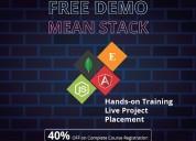 Best mean stack development training instiute in b