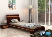 buy bed without storage in hyderabad @woodenstreet
