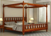 Buy wooden double bed online in jaipur from wooden