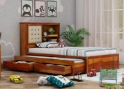 Browse the wooden variants of space saving beds