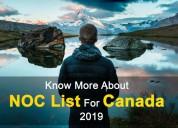 Canada skilled occupations(noc) list 2019