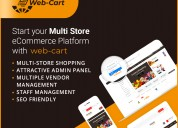 Webcart - e-commerce multi store in india