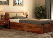 Heavy sale on wooden single beds at wooden street
