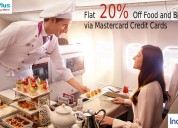 Flat 20% off food and beverages via mastercard