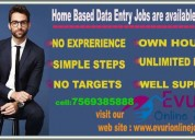 Home based jobs part time