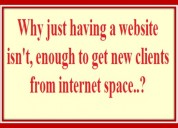 Why just having a website isn't, enough to get new