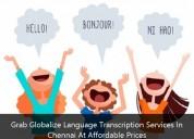 Grab globalize language transcription services