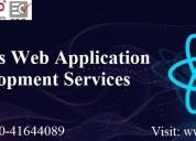 React js web development services