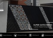 Aluminium gate designs
