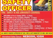 B.sc  health safety environment courses